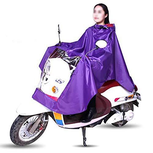 YERIN Impermeable para bicicleta eléctrica para bicicleta, impermeable, con capucha, para motocicleta, para hombres y mujeres, talla única