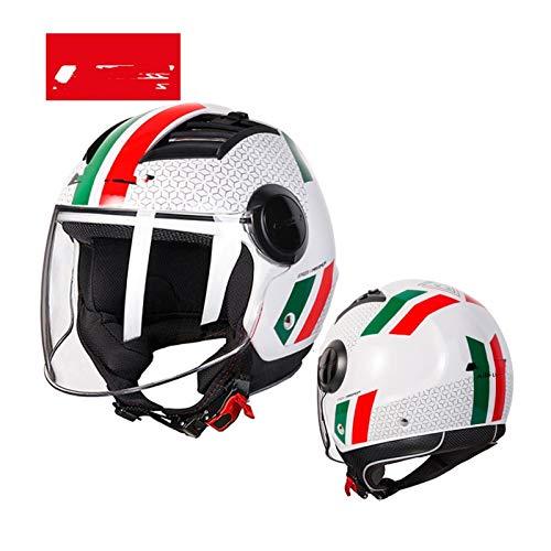 Airstream motorcycle helmet 3/4 open summer jet motorcycle half face motorcycle helmet (Color : Italian flag)