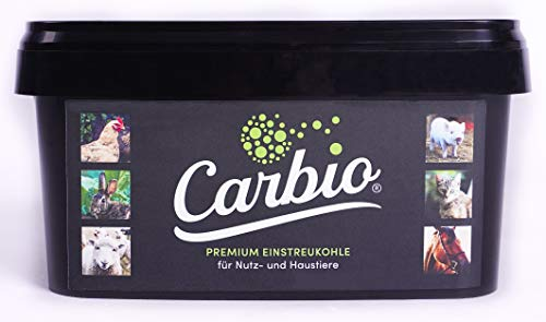 Carbio Einstreukohle für Nutz- & Haustiere - 1500g Eimer