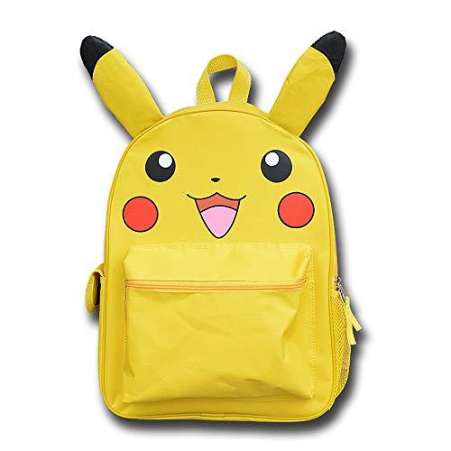 HAMIQI Pokemon Mochila de viaje Pokémon Monster para niños y niñas Linda Pikachu