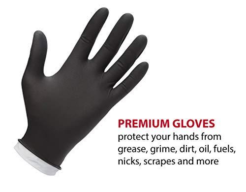 Medline VEN6045R Venom Steel Premium Industrial Black Nitrile