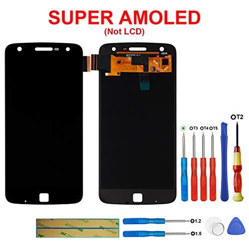 SWARK Super AMOLED-scherm compatibel met Motorola Moto Z Play XT1635-02, XT1635-01 5,5 inch (zwart zonder frame) LCD-display touchscreen + tools