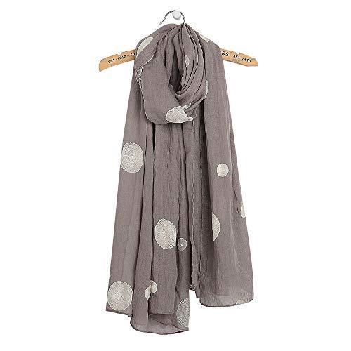 Superora Damen Schal Halstuch Tuch Baumwolle Leinen Dot Schals Frühling Herbst Winter Warm