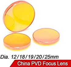 K-Fang-co2 China PVD ZnSe Dia.12 18 19 20mm FL38.1 50,8 63,5 76,2 101,6 mm CO2-Laser-Fokus-Linse for CO2-Laserschneiden Graviermaschine Diameter : 12mm, Focal Length : 50.8mm