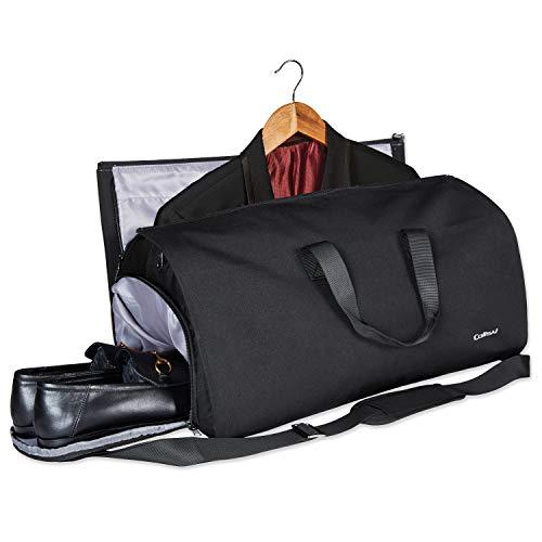 Colisal Anzugtasche Anzugsack Herren Damen 2 in 1 Weekender Anzug Kleidersack mit Schuhfach 60L Handgepäck Kleidertasche für Reisen Flugzeug Bussiness Weekend Schwarz