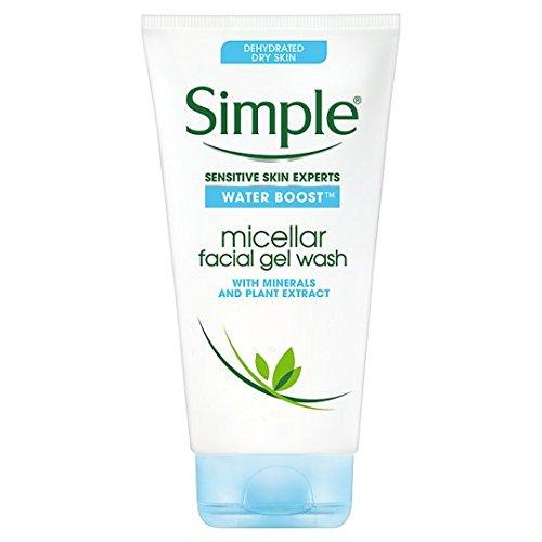 Simple Water Boost Gel nettoyant micellaire pour le visage, 148 ml