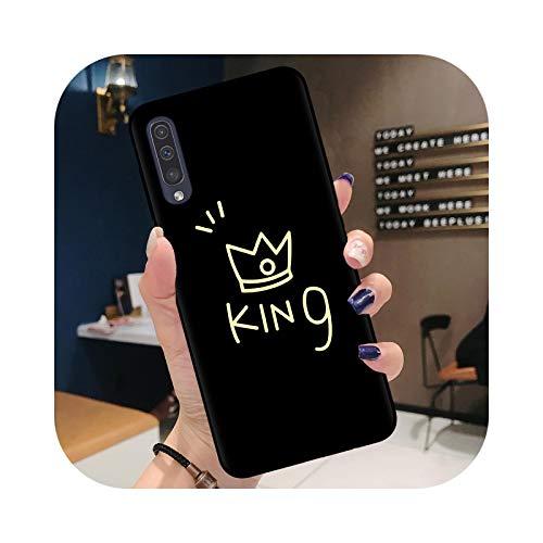 Carcasa para Samsung A71, diseño de corona de Rey para pareja