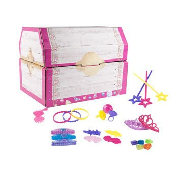 Sale!! DollarItemDirect Party Favor Princess 8 Assorted in Jewelry Box PDQ Meshbag Hangtag, Case of ...