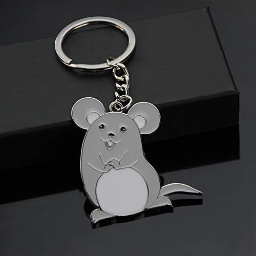 GMTEXTILES Mode Maus Emaille Schlüsselring Tier Schlüsselkette Handgemachte Metall Schlüsselanhänger Damen Nette Maus Souvenir Tasche Anhänger Auto Trinket Geschenk