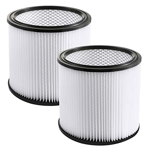 Gazeer 2Pack Replacement Cartridge Filter for Shop-Vac Shop Vac 90304, 90350, 90333,903-04-00, 9030400,5 Gallon Up Wet/Dry Vacuum Cleaners