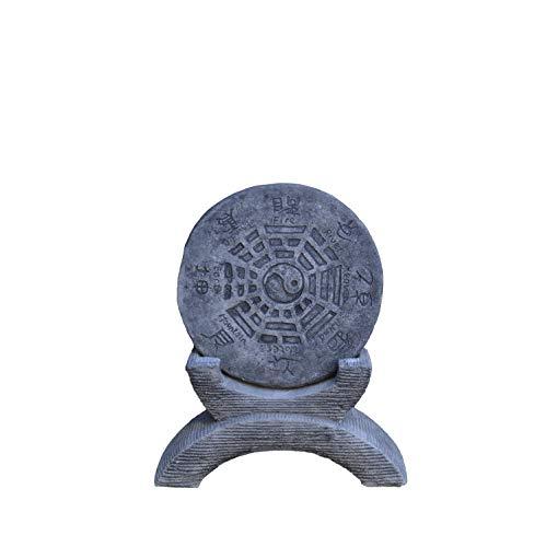 gartendekoparadies.de Chinesisches Gartenhoroskop Schriftzeichen Yin Yang Steinguss frostfest