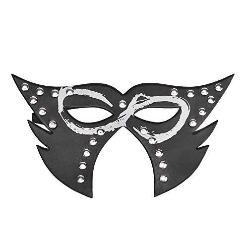 Graffiti Printing Stage Performance Flat Nagel Zwart Lederen Wolf Blinddoek Masker