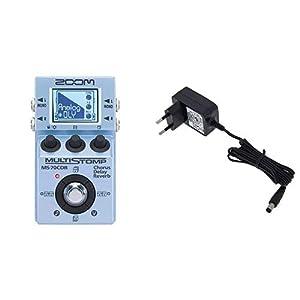 Zoom – Ms-70Cdr/Ifs – Pedale Chorus, Delay e Reverb per Chitarra – pedale chitarra plus Adattatore alimentatore