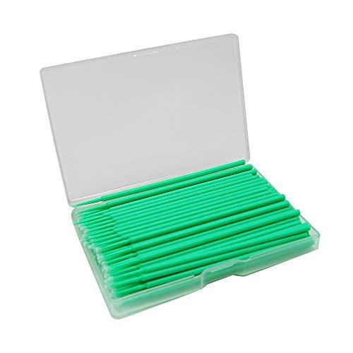 Lacktupfer,Autos Miniatur-Wattestäbchen Präzisions zur Verwendung im Modellbau (100 PCS) (Grün,2MM)