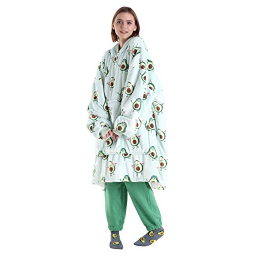JUSTGIVE - Hoodex Wearable Blanket Sherpa Hoodie - Soft & Warm Oversized Fleece Hooded Blanket with...
