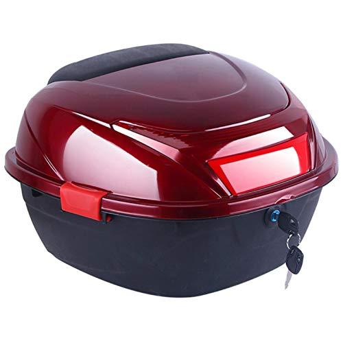 JKGHK Baúl Moto, Caja Superior para Almacenamiento de Equipaje Y Casco, con Cerradura con Hardware De Montaje Universal Caja Trasera del Maletero, para Scooter/Motocicleta/Ciclomotor