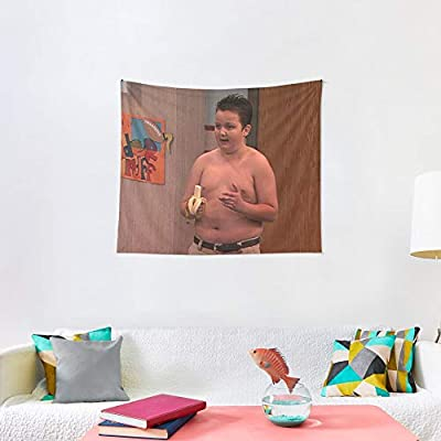 Noick Gibby from ICarly 3D Boutique Wall Tapestry Pop Art Retro Micro Microfiber Peach Peach Home Decoration 59.1X51.2 in