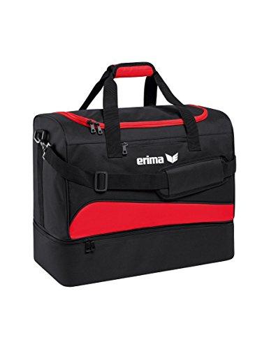 erima Sporttasche mit Bodenfach Sporttasche, 60 cm, 89 Liter, rot/schwarz