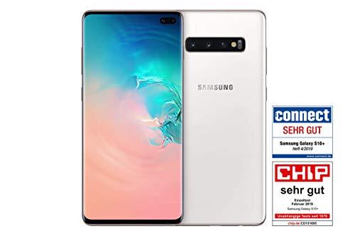 Samsung Galaxy S10+ Smartphone (16.3cm (6.4 Zoll) 512GB interner Speicher, 8GB RAM, Ceramic White) - Deutsche Version (Generalüberholt)