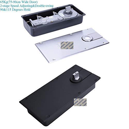 Yener 115 graden houden open vloer gemonteerde hydraulische verborgen deurdranger vloer veerborstel mat zwart 65KG