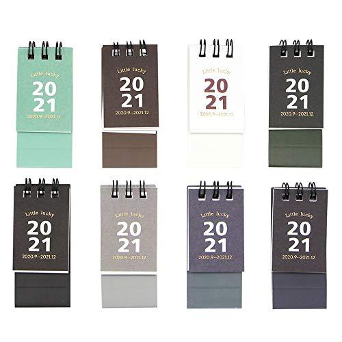 Calendario de escritorio 2020-2021, 8 unidades, mini calendario de mesa mensual FILP para casa, escuela, oficina, planificador de horarios, regalo para familiares y amigos