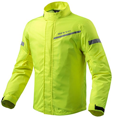 FRC010-0410-M - Rev It Cyclone 2 H2O Rainwear - Chaqueta para moto (talla M), color amarillo neón