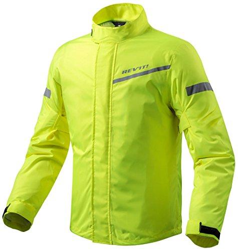 REV'IT! CYCLONE 2 H2O Motorrad Regenjacke - neon gelb Größe M
