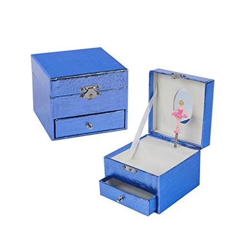 SHYPT Caja de música de Papel Azul Joyero Azul Hecho a Mano Regalo Cuadrado Propuesta Creativa Regalo de cumpleaños Navidad