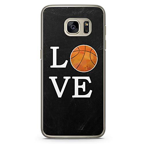 Love Basketball - Hülle für Samsung Galaxy S7 - Motiv Design Sport - Cover Hardcase Handyhülle Schutzhülle Case Schale