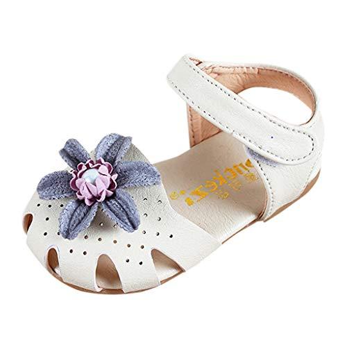Prinzessin Schuhe MäDchen, Sandalen mit Blumen, Infant Pre Walker Schuhe, Baby-süße Elegante Perlenschuhe, Kleinkind-Sommerschuhe