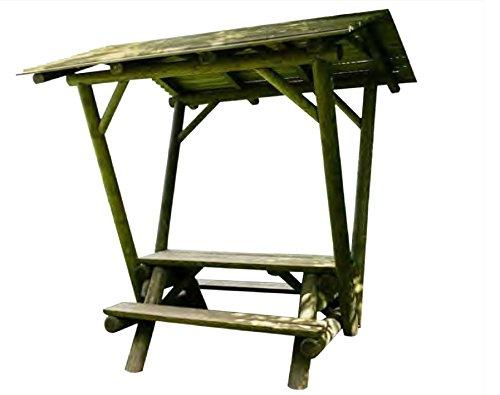ITALFROM Tonnelle en bois avec table et bancs de jardin Pergola Pergola Pergola