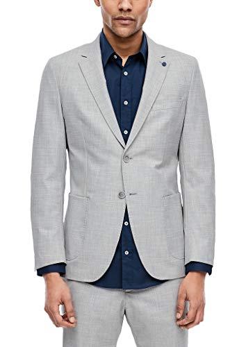 s.Oliver Herren 02.899.54.5446 Sakko Langarm Anzugjacke, Light Grey Melange, (Herstellergröße: 54)