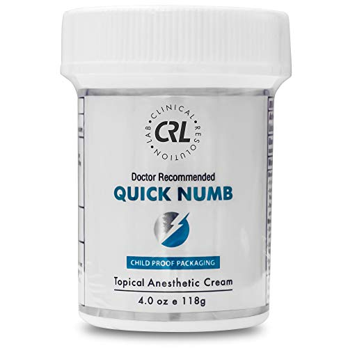 Quick Numb 5% Lidocaine Topical Cream for Fast Pain Relief, 4 Oz Maximum Strength Deep Penetrating Pain Relief Cream Anesthetic with Aloe Vera, Vitamin E, Lecithin with Child Resistant Cap