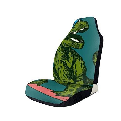 Paedto Dinosaurio Surfer Gafas de sol Universal Fit Funda impermeable para asiento de coche Fundas clásicas para asiento de coche Lavable Easy Fit