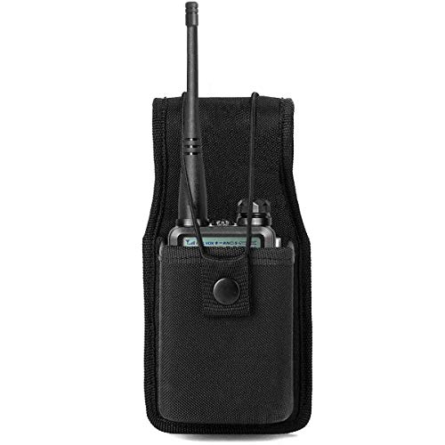 kyrio Universal Two Way Radio Holder Hoster para Walkie Talkies Funda de Nylon para Motorola Kenwood Icom HYT Arcshell BF-UV5R UV82 888S F8HP Retevis H777