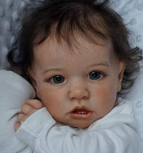 YIKANLIA 23'' 58cm 1.5 kg Saskia Reborn Puppe,handgemachte echtes realistische Reborn Baby,Vollsilikon Pflegen Leicht Waschbar Spielzeug Für Kinder und ältere Menschen