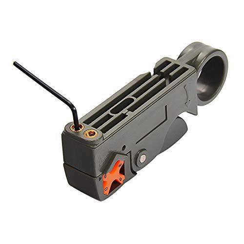 LIXIAONMKOP Pinces de dénudage automatique Câble coaxial Câble de strip-fil Strip-câble Outils de sertissage à décapage avec clé hexagonale (Color : A)