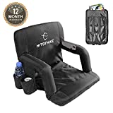 HITORHIKE Stadium Seat for Bleachers or Benches Portable Reclining Stadium Seat Chair with Padded...