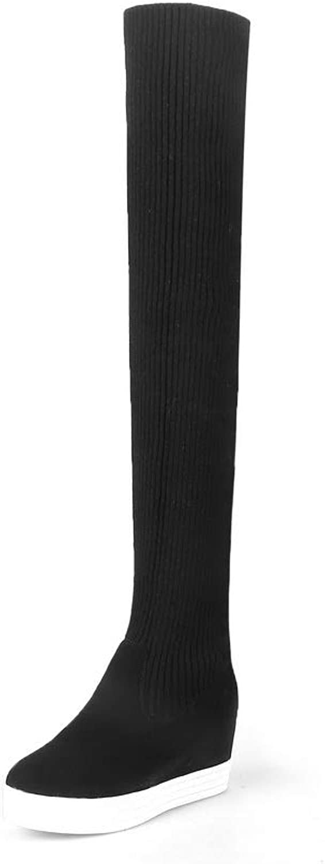AN DKU02614, Damen Durchgängies Plateau Sandalen mit Keilabsatz, Schwarz Schwarz Schwarz - Schwarz - Größe  EU 41  d45c2d