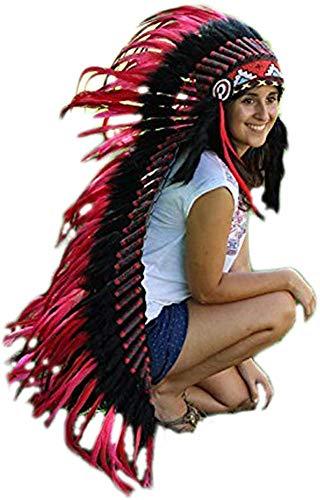 KARMABCN Z15 - Sombrero de Indio, penacho de Plumas Extra Largo
