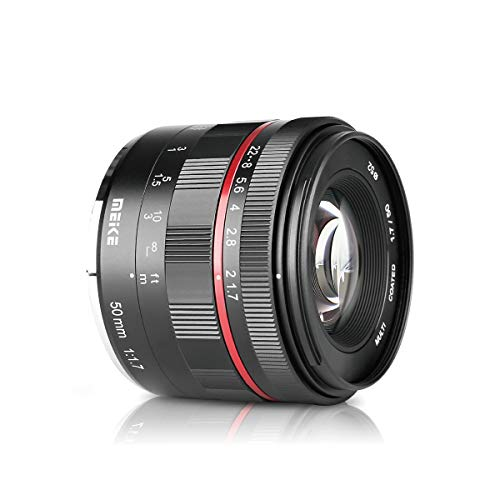 MEIKE MK-50MM F/1.7 Prime Lens Compatible with Sony Full Frame Camera Such as A7II A9 A7III