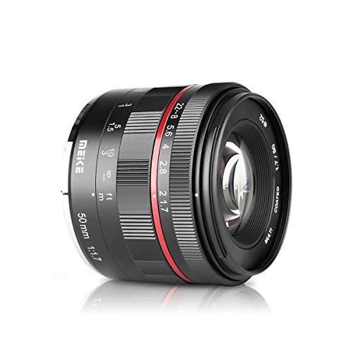 Meike MK-50 mm F1.7 lente gran angular de enfoque manual para cámaras Olympus Panasonic Micro 4/3 sin espejo