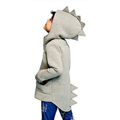 OSYARD Baby Jungen Hoodie Sweatshirt Kapuzenjacke, Kinder Kind Baby Oberbekleidung Jacke Dinosaurier Style Hooded Coat Outwear,Kleinkind Niedlich Tops Shirts Oberseiten mit Kapuze für Frühling Herbst
