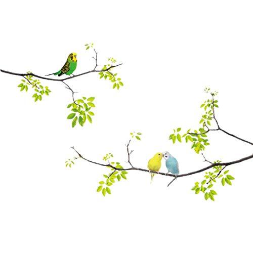 Vogels op de muur Applique schors en vasthouden aan de afneembare muur Stickers voor De Kids Woonkamer Slaapkamer Kleuterschool 20 * 70 * 1cm