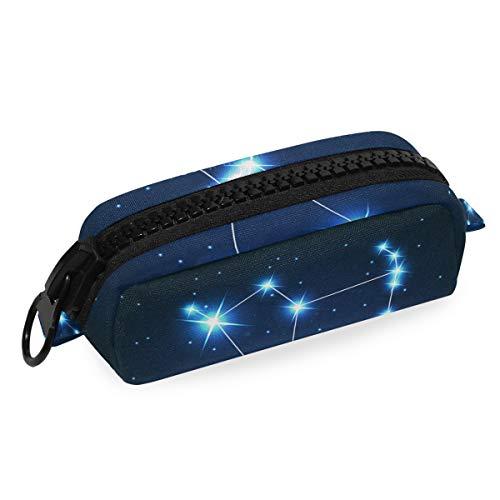 Mnsruu Federmäppchen, Orion Sternbild Stern Nachthimmel Bleistifttasche Tasche Schreibwaren Aufbewahrungstasche für Studenten Mädchen Jungen