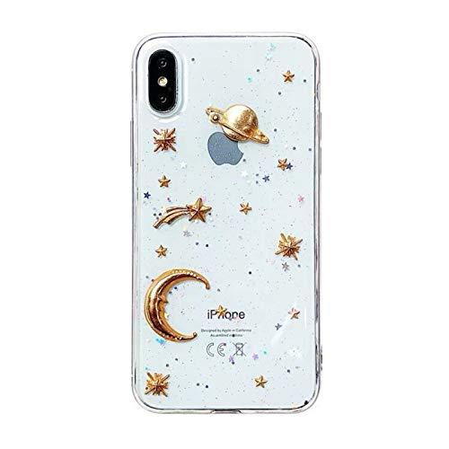 CHQY Funda para teléfono IPhonexsmax/8plus, funda protectora de TPU transparente para iPhone 6, color negro y blanco