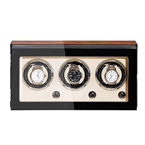 XYSQ Lussuose Carica Orologi Autornatico Watch Winder Box con Motore Silenzioso 5 modalità Meccanico Elettrico Scatola per Orologio da Polso Espositore Rotatorio (Size : 3+0)