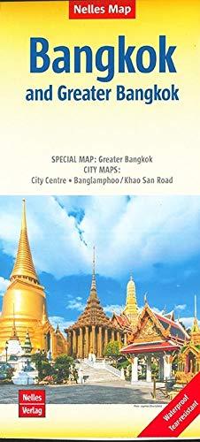 Nelles Map Landkarte Bangkok and Greater Bangkok: 1:15.000 / 1:75.000   reiß- und wasserfest; waterproof and tear-resistant; indéchirable et ... 000 / 1:75 000 (Nelles Map / Strassenkarte)