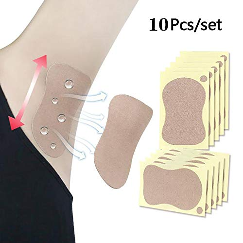 Pegatinas antitranspirantes desechables para las axilas, esteras absorbentes de la transpiración, lucha contra la hiperhidrosis, almohadillas invisibles para las axilas para hombres y mujeres 10PCS