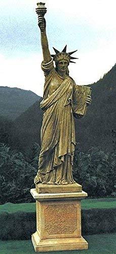 pompidu-living Freiheitsstatue, Statue of Liberty, Steinfigur, Gartenfigur Farbe Weißgrau Farbe Weißgrau